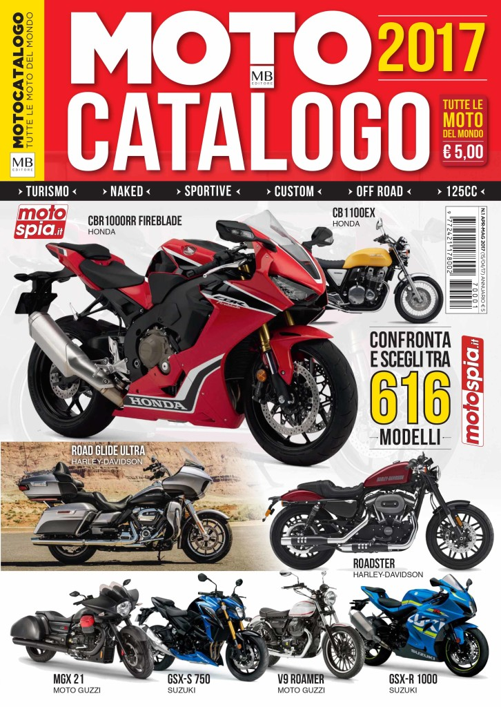 Motocatalogo 2017, Honda, Suzuki, Moto Guzzi e Harley-Davidson